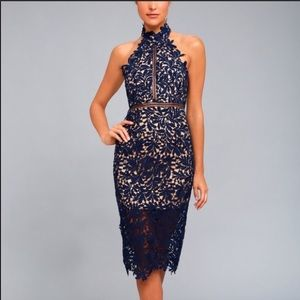 Lulus Royal Blue Lace Dress